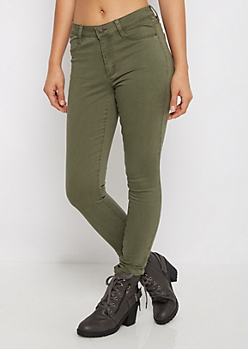 Olive Ultra Soft Brushed Jegging