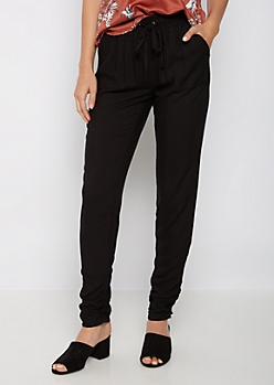 Ruched Challis Pant