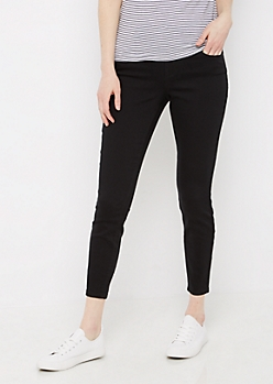 Black 3-Shank High Waist Jegging
