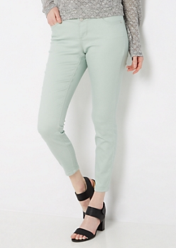 Olive 3-Shank High Waist Jegging