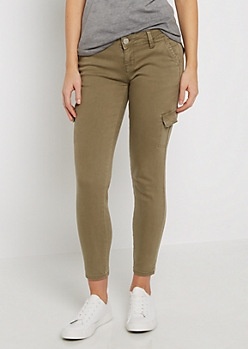 Sand Cropped Cargo Ankle Jegging