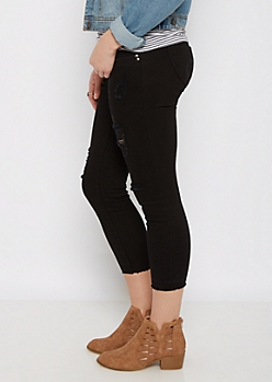 Black Better Butt Distressed High Waist Jegging