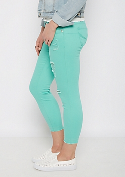 Mint Better Butt Distressed High Waist Jegging