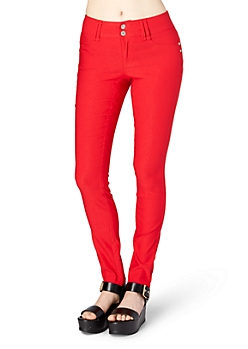 Red Better Booty Double-Shank Jegging
