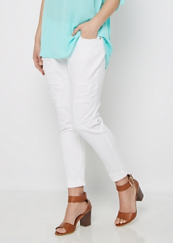 Patched & Cropped Relaxed Skinny Jean in Regular
