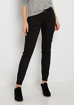 Black Cargo Twill Jegging