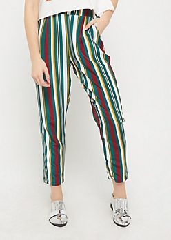Striped Woven Tapered Pant