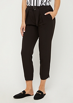 Belted Tapered Crop Pant