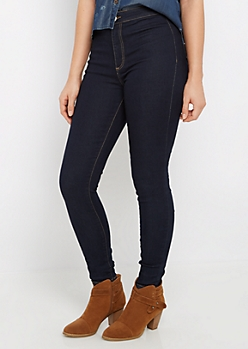 Dark Blue High Waist Jegging