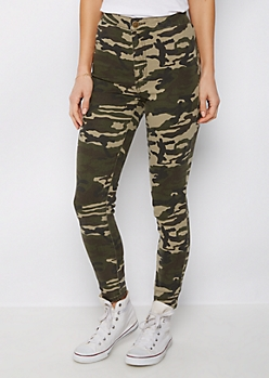 Dark Camo High Waist Jegging