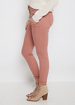 Dusty Rose High Waist Jegging