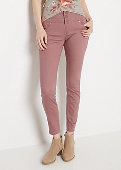 Dark Pink High Waist Jegging