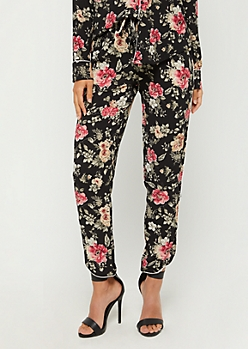 Floral Piped Pant