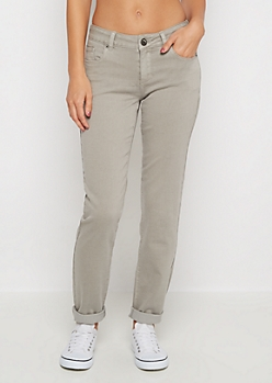Light Gray Flex Mid Rise Skinny Pant