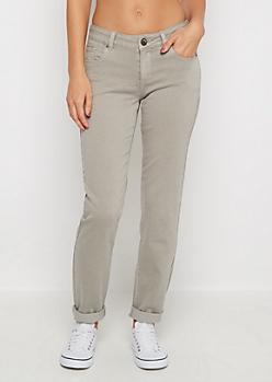 Light Gray Flex Mid Rise Skinny Pant