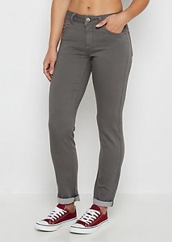Charcoal Flex Mid Rise Skinny Pant