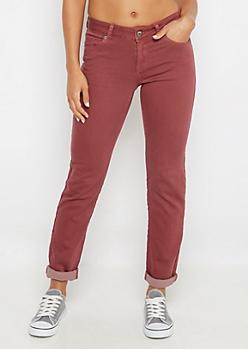 Pink Flex Mid Rise Skinny Pant