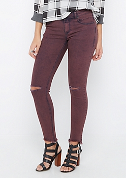 Vintage Purple Distressed Jegging