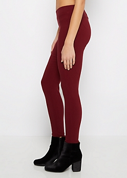 Burgundy Better Butt Pull-On Jegging