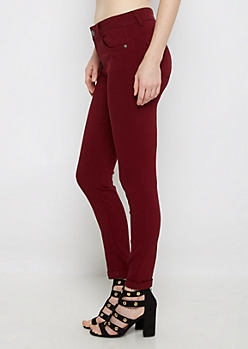 Burgundy Better Butt Cuffed Jegging