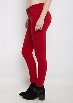 Red Better Butt Cuffed Jegging