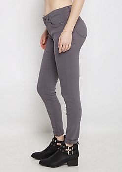 Gray Better Butt Cuffed Jegging