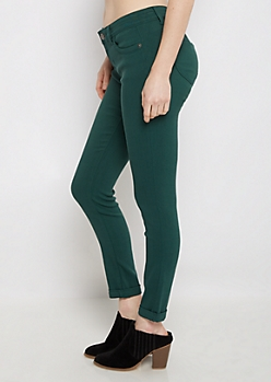 Dark Teal Better Butt Cuffed Jegging