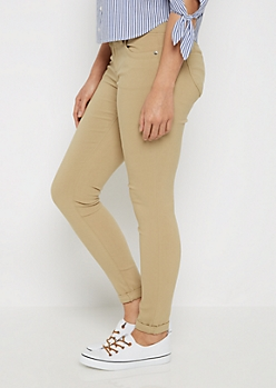 Khaki Better Butt Cuffed Jegging