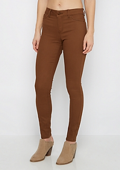 Dark Olive High Waist Jegging
