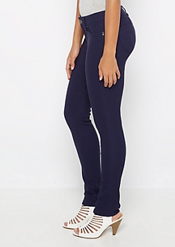 Navy Better Butt Stretch Twill Jegging