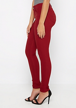 Red Better Butt Stretch Twill Jegging