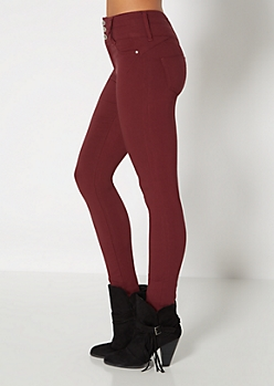 Burgundy Better Booty High Waist Jegging