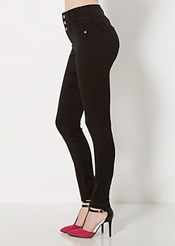 Better Booty Black Brushed High-Waist Jegging