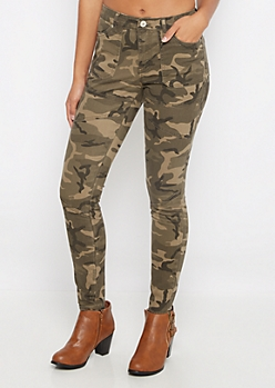 Camo Moto Skinny Pants