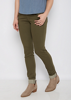 Olive Better Butt 3-Shank Jegging