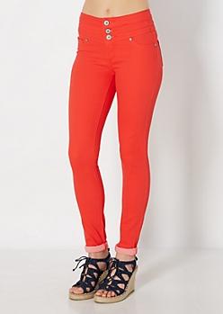 Neon Orange Freedom Flex Better Booty Jegging