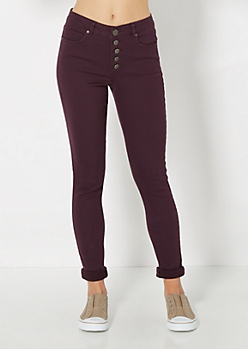 Freedom Flex Purple High Waist Skinny Pant