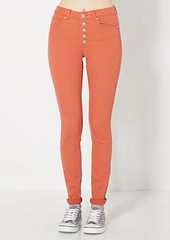 Freedom Flex Orange High Waist Skinny Pant