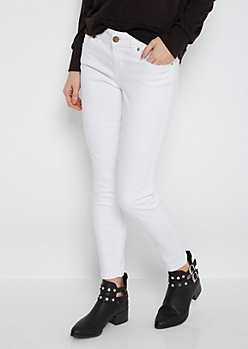 White Twill Ankle Jegging
