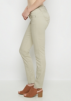 Taupe Better Butt Twill Jegging