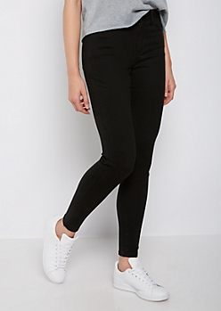 Black Soft High Rise Jegging in Regular