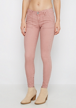 Pink Washed Skinny Pant