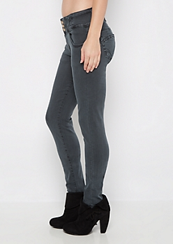 Charcoal Better Butt High Waist Jegging