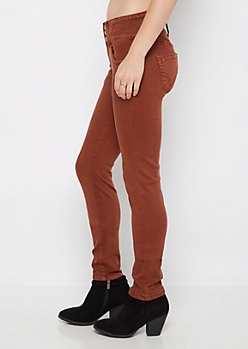 Burnt Orange Better Butt High Waist Jegging