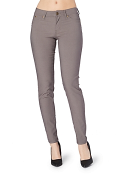 Gray Better Booty Twill Stretch Jegging in Long