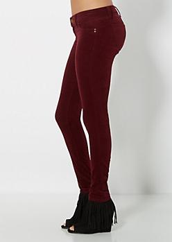 Burgundy Better Booty Corduroy Skinny Pant