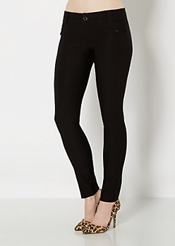 Black Stretch Twill Skinny Pant