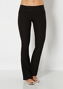 Bow Pocket Stretch Slim Boot Pant