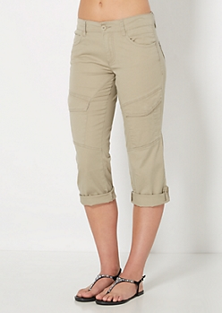 Taupe Double Rolled Cargo Crops