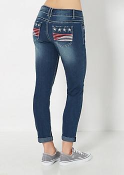 Rhinestone Americana Cropped Pant